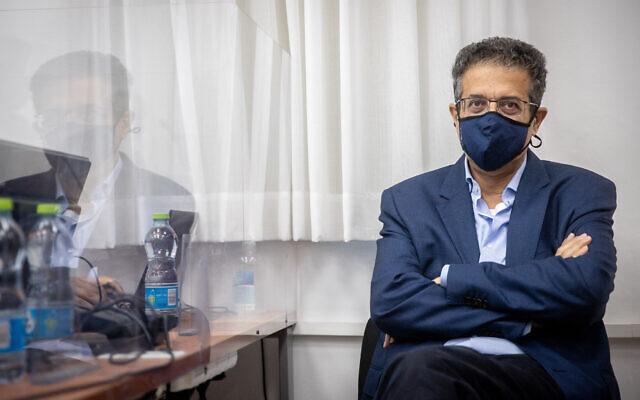 Former Walla CEO Ilan Yeshua at the Jerusalem District Court on June 9, 2021. (Yonatan Sindel/Flash90)