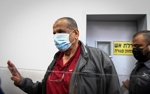 Sheikh Yusuf Albaz appears for a hearing at the Rishon Lezion Magistrate's Court on June 17, 2021. (Flash90)