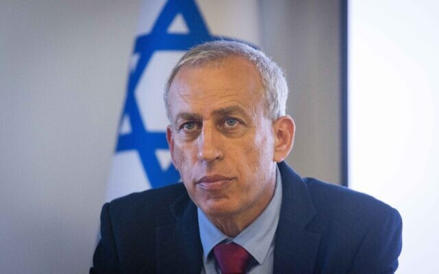 Then-coronavirus czar Nachman Ash attends a press conference in Jerusalem on June 23, 2021. (Yonatan Sindel/Flash90)