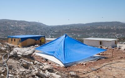 The illegal settlement outpost of Evyatar, in the West Bank, on June 27, 2021. (Sraya Diamant/Flash90)