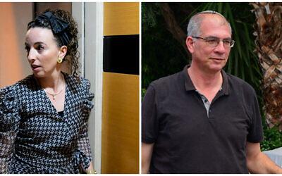 Yamina MKs (L) Idit Silman and (R) Nir Orbach (Avshalom Sassoni/Flash90) and