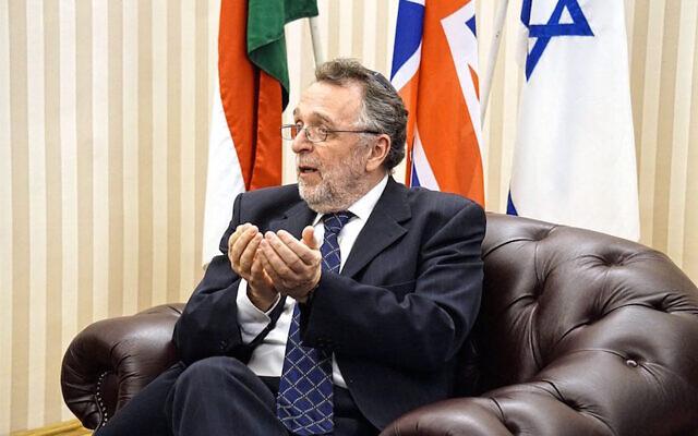 András Heisler is the president of Mazsihisz, an umbrella group of Hungarian Jewish communities. (Courtesy of Mazsihisz via JTA)