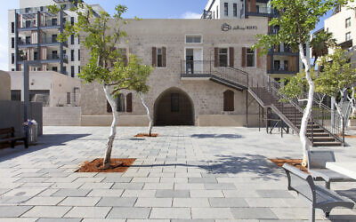 A refurbished Jaffa well house, part of the tours being given for Batim Mibifnim, taking place June 17-19, 2021 (Courtesy Amit Herman)