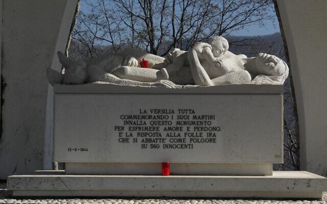 Sant' Anna di Stazzema massacre memorial sculpture, February 22, 2008. (Wikimedia  Commons/ Hans Peter Schaefer)