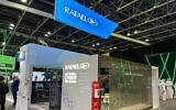 The Rafael stand at the GISEC Global 2021 Cyber Security Expo in Dubai, May 31 to June 2, 2021 (Courtesy)
