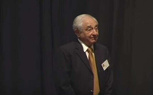 Uzia Galil, a founding father of Israel's high tech industry (YouTube screenshot)