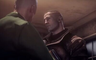 A still of William 'B.J.' Blazkowicz from 'Wolfenstein: The New Order.' (Screenshot)