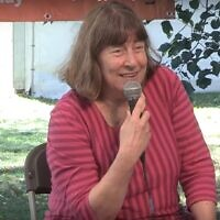 Dr. Lindsey Taylor-Guthartz speaks at the annual Greenbelt arts, faith, and justice festival in the UK in 2016. (YouTube)