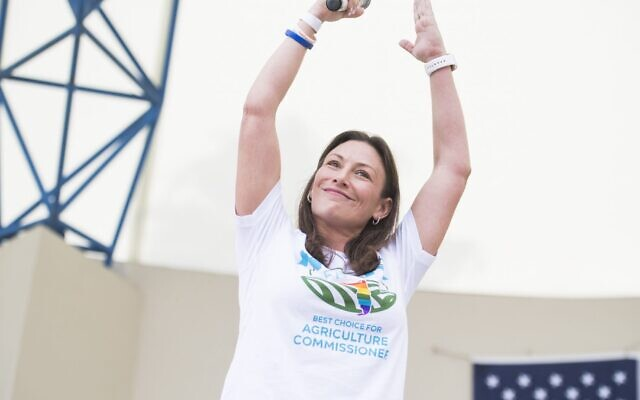 Nikki Fried at an event supporting Florida Democratic political candidates at Meyer Ampitheatre in West Palm Beach, Nov. 3, 2018. (Tom Williams/CQ Roll Call)