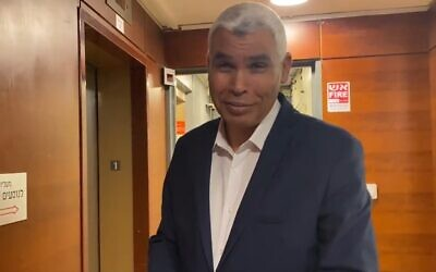 Ra'am MK Saeed al-Harumi at the Knesset, June 13, 2021 (Screen grab/Ynet)