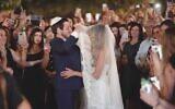 Gilad Shalit marries Nitzan Shabbat on June 23, 2021. (Screenshot: Aviv & Tali Videographers)