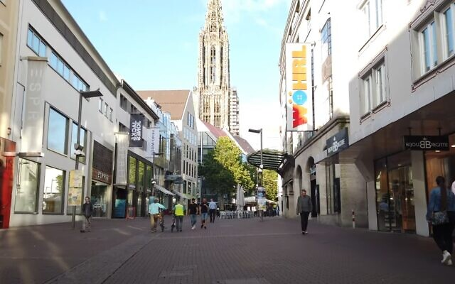 A view of the city of Ulm, Germany (video screenshot)