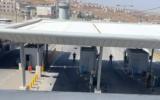 Israeli security forces guard after a Palestinian woman was shot, at the Qalandiya Checkpoint near Jerusalem, June 12, 2021. (Screenshot: Twitter)