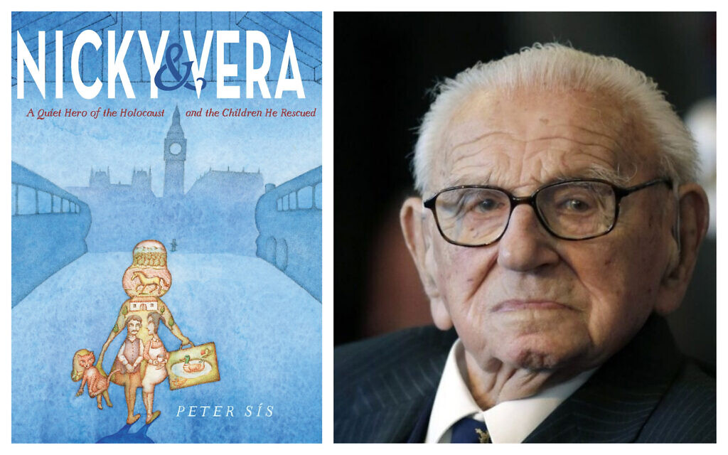 'Nicky & Vera' by Peter Sis (Courtesy W.W. Norton and Company); Holocaust-era hero Nicholas Winton, who helped save 669 Czech children from the Nazi invasion. (AP/Petr David Josek, File)