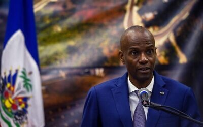 President of Haiti Jovenel Moise speaks during a press conference in Port-au-Prince, January 7, 2020. (CHANDAN KHANNA/AFP)