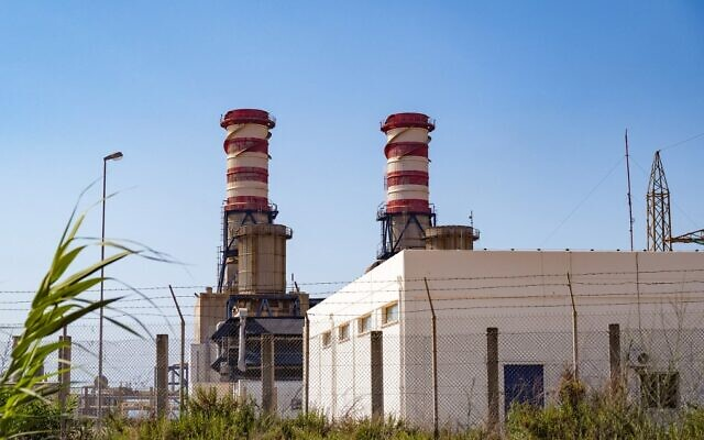 A picture taken on July 10, 2021 shows the Deir Ammar power station, in the northern Lebanese city of Tripoli. (Ibrahim Chalhoub/AFP)