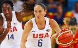 Sue Bird drives the ball during the women's gold medal game between the United States and Spain at the 2016 Rio Olympic Games at Carioca Arena 1 in Rio de Janeiro, Brazil, August 20, 2016. (Tom Pennington/Getty Images)