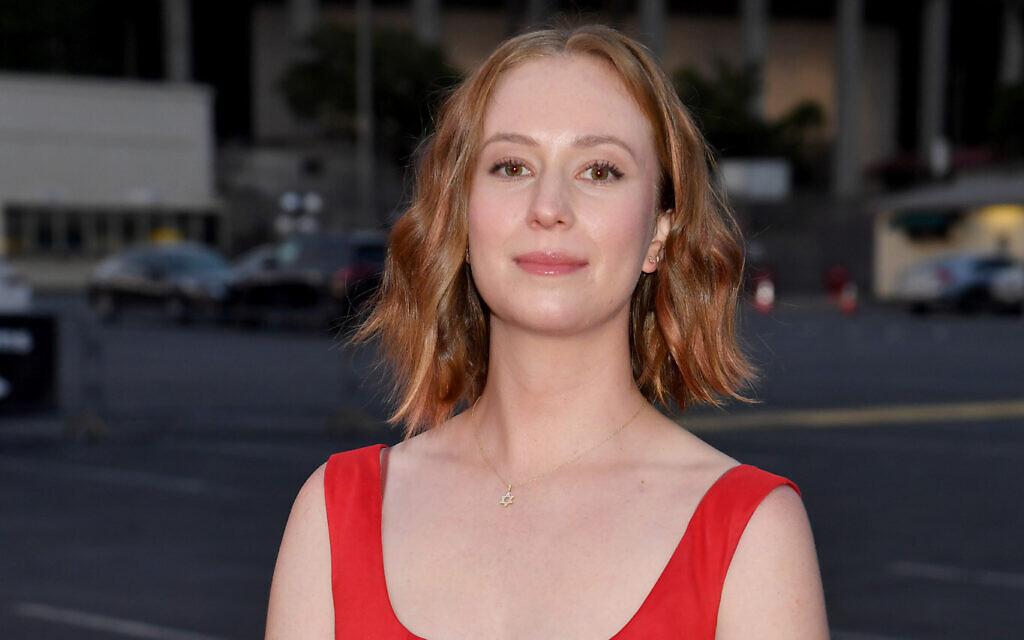 Hannah Einbinder at an HBO Max event for 'Hacks' at the Rose Bowl in Pasadena, California, May 20, 2021. (Jeff Kravitz/FilmMagic for HBO/ via JTA)
