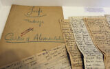 Illustrative: In this photo taken on July 16, 2012 documents coming from the Archives of Paris Police Prefecture and showing lists of Jewish people registered during WWII, are presented for an exhibition of French archives on Shoah in Paris. (AP/Remy de la Mauviniere)