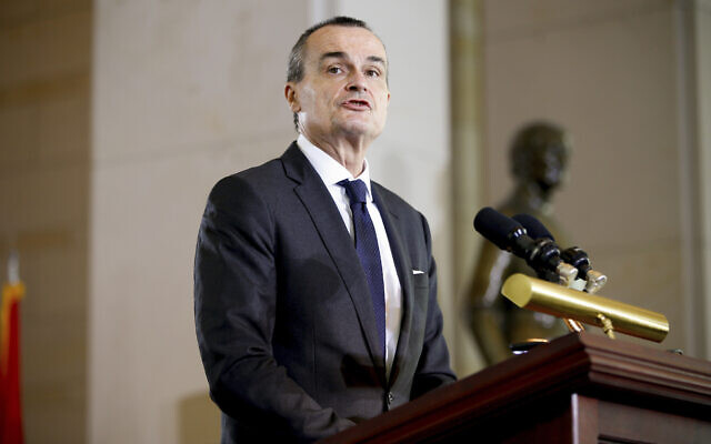 France's then-ambassador to the US Gerard Araud speaks during the US Holocaust Memorial Museum's annual Days of Remembrance Ceremony, in Emancipation Hall on Capitol Hill in Washington, on April 16, 2015. (AP Photo/Andrew Harnik, File)