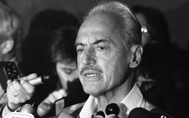 This July 16, 1981 file photo shows US baseball union leader Marvin Miller speaking to reporters after rejecting a proposal to end a baseball strike, in New York. (AP Photo/Howard, File)