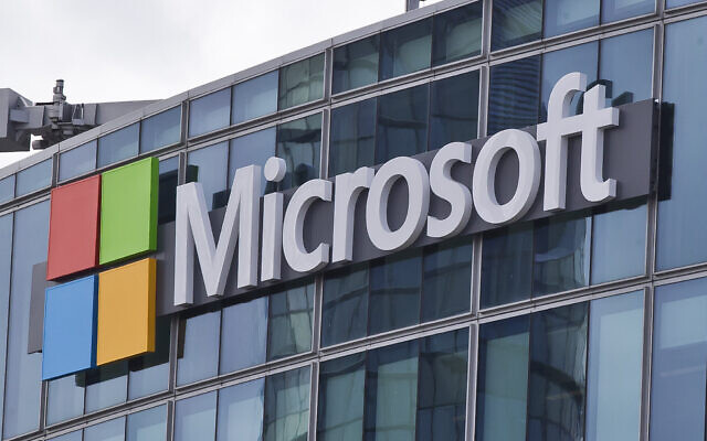 This file photo from April 12, 2016, shows the Microsoft logo in Issy-les-Moulineaux, outside Paris, France. (AP Photo/Michel Euler, File)