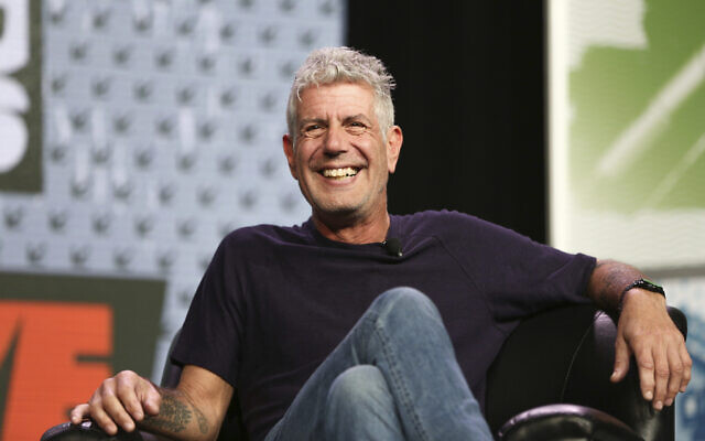 FILE - In this March 13, 2016, file photo Anthony Bourdain speaks during South By Southwest at the Austin Convention Center, in Austin, Texas (Rich Fury/Invision/AP, File)