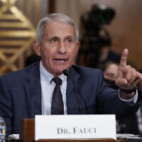 Top infectious disease expert Dr. Anthony Fauci, as he testifies before the Senate Health, Education, Labor, and Pensions Committee, on Capitol Hill in Washington, July 20, 2021. (J. Scott Applewhite/AP)