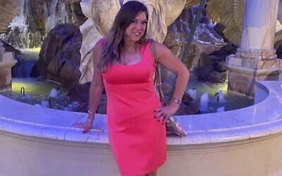 This June 1, 2021 photo provided by Liz Segel shows Estelle Hedaya at Caesars Palace in Las Vegas. (Liz Segel via AP)
