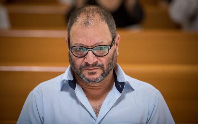 Joint List MK Ofer Cassif at the Supreme Court in Jerusalem on August 22, 2019. (Yonatan Sindel/Flash90)