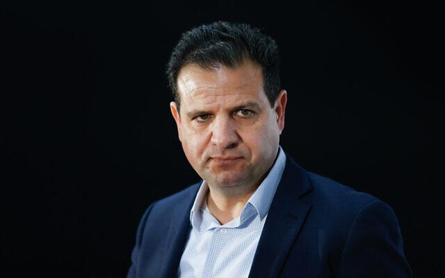 Joint List leader Ayman Odeh at the President's Residence in Jerusalem on April 5, 2021. (Yonatan Sindel/Flash90)
