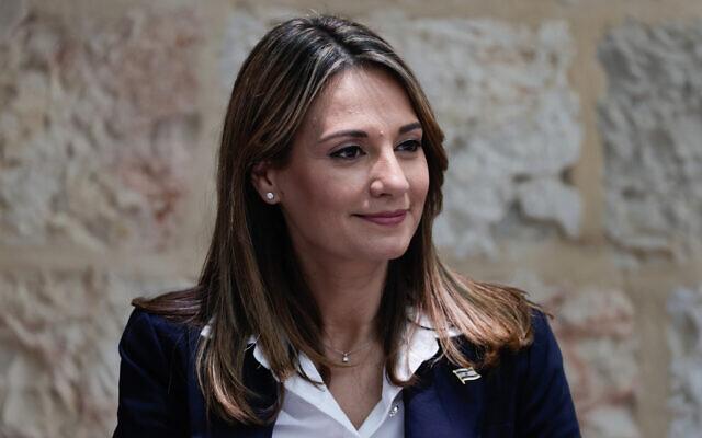 Education Minister Yifat Shasha-Biton in Jerusalem on June 14, 2021. (Olivier Fitoussi/FLASH90)