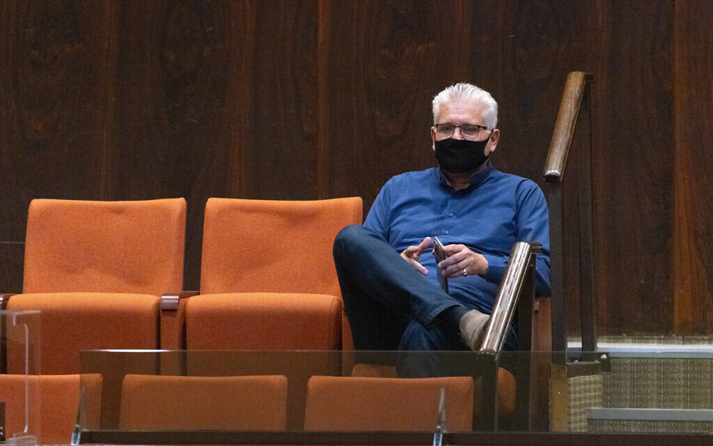 Yisrael Beytenu MK Eli Avidar at the Knesset on June 21, 2021. (Olivier Fitoussi/Flash90)