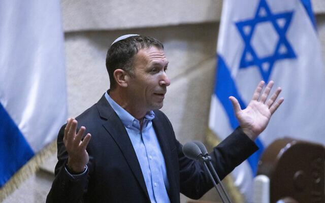 Religious Affairs Matan Kahana speaks at the Knesset on June 28, 2021. (Olivier Fitoussi/Flash90)