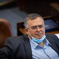 MK David Bitan at the Knesset in Jerusalem, on July 7, 2021. (Yonatan Sindel/Flash90)
