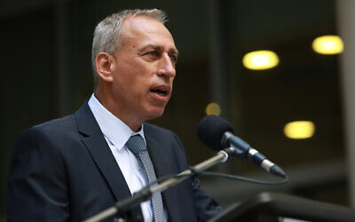 Health Ministry director-general Nachman Ash speaks at his office in Jerusalem on July 13, 2021. (Flash90)