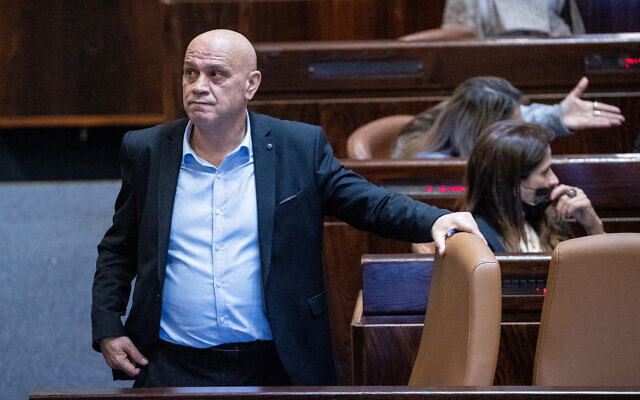 Regional Cooperation Minister Issawi Frej at the Knesset in Jerusalem, on July 14, 2021. (Yonatan Sindel/Flash90)