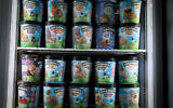 Ben & Jerry's ice cream on sale at a shop in Jerusalem, on July 19, 2021. (Yonatan Sindel/ Flash90)
