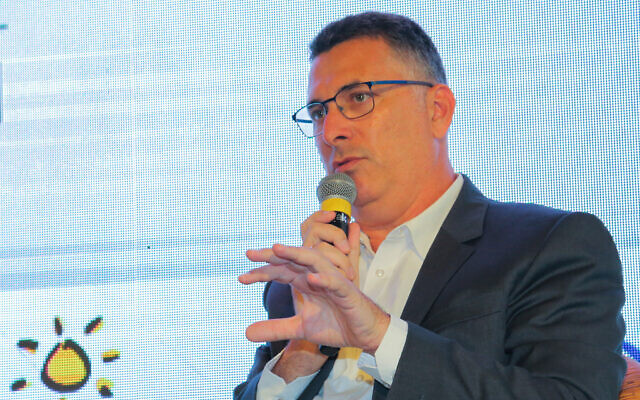 Justice Minister Gideon Sa'ar speaks at a conference in southern Israel on July 22, 2021. (Flash90)