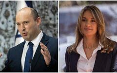 Prime Minister Naftali Bennett (L) and Education Minister Yifat Shasha-Biton (R) (Yonatan Sindel/Flash90)