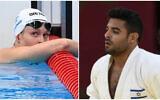 (L)  Anastasya Gorbenko (Jonathan NACKSTRAND / AFP) and (R) Sagi Muki (Amit Shisel/Israel Olympic Committee)