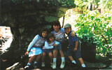 Julia Haart with her children Batsheva, Miriam and Shlomo in Atlanta in 2002. (Courtesy Elite World Group)