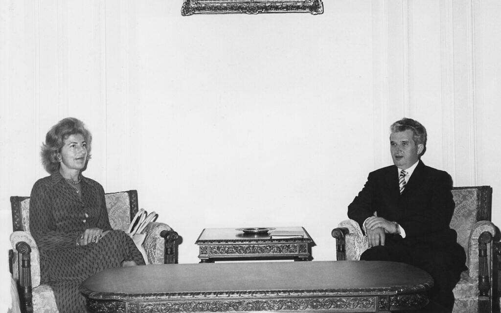Hella Pick interviews Romanian dictator Nicolae Ceausescu. (Courtesy)