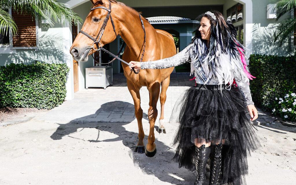 Dani G. Waldman and one of her horses. (Courtesy)