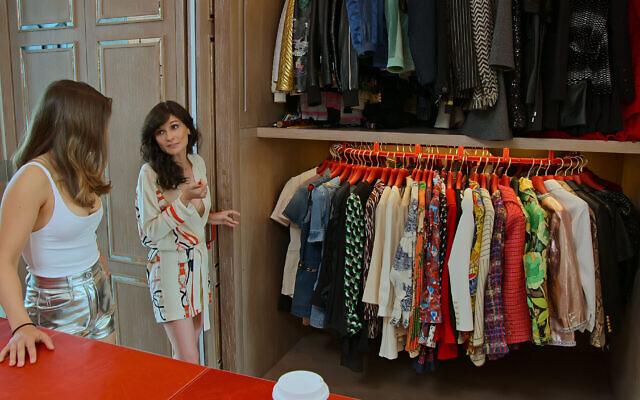 Miriam Haart and Julia Haart in her expansive Manhattan closet. (Courtesy Netflix)