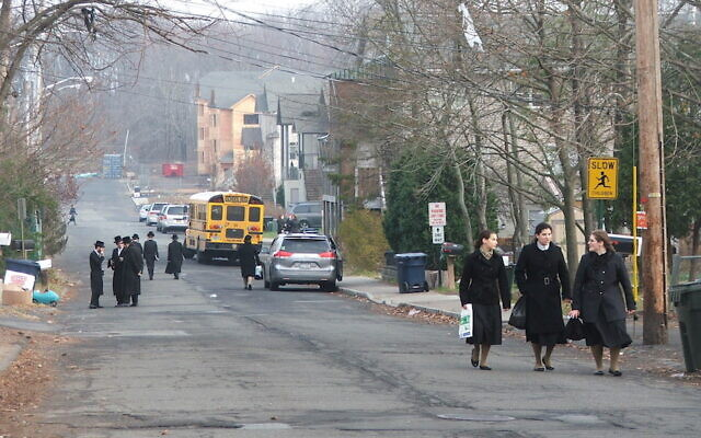 Rockland County, New York -- home to New Square, an all-Hasidic village, above -- has the highest concentration of Jews of any county in the country, according to a 2020 survey released July 8, 2021. (Uriel Heilman via JTA)