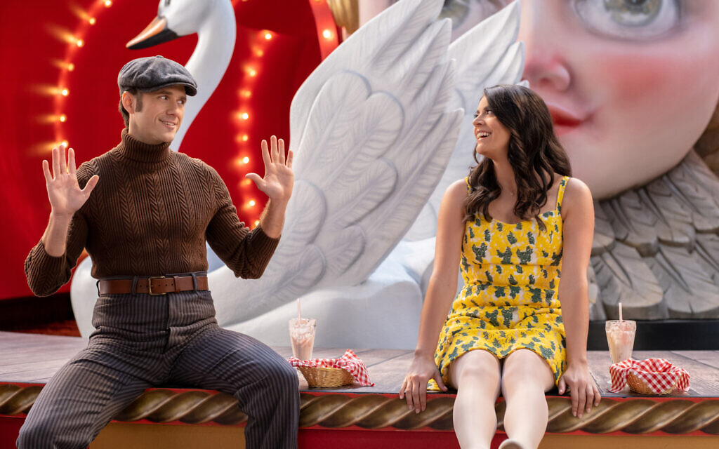 Aaron Tveit and Cecily Strong in 'Schmigadoon!' Episode 2. (Courtesy Apple TV+)