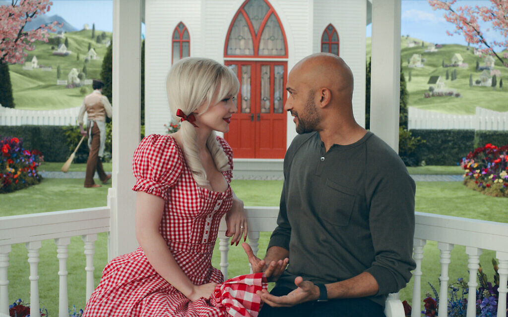 Dove Cameron and Keegan-Michael Key in 'Schmigadoon!' Episode 3. (Courtesy Apple TV+)