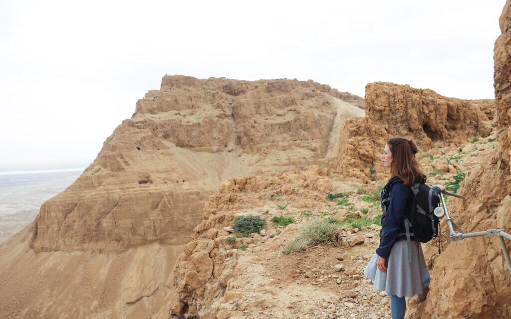 Susannah Schild on a hike in the Dead Sea region. (Courtesy)