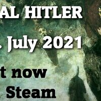A promotion video for a game called 'Heal Hitler' in which players are asked to identify the Nazi leader's psychological issues, July 2021. (Screenshot: YouTube)
